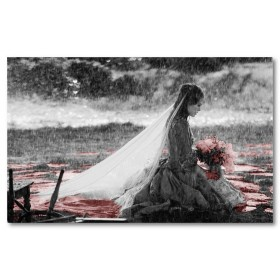 Αφίσα (μαύρο, λευκό, άσπρο, γάμος)